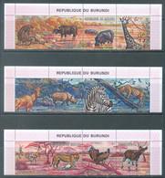 BURUNDI - 1971 - MNH/*** LUXE - ANIMALS - COB 437-460 BORD DE FEUILLE - Lot 22202 - 1970-79: Ungebraucht