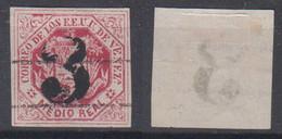 Venezuela Mi# 20 I K Used 1/2R 1873 Inverted Overprint Nice Postmark - Venezuela