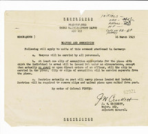 Document A Determiner Guerre 40_45 Dumajor Adjudent General Crockett Le16 Mars 1945 - Documenten