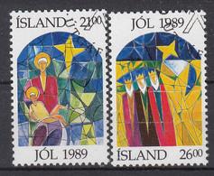 IJSLAND - Michel - 1989 - Nr 712/13 - Gest/Obl/Us - 1944-... República