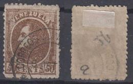 Venezuela Mi# 26 Y Used 50c 1880 Thick Paper - Venezuela