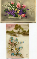 CPA - 2 Cartes Postales - Thème - Fleurs  (SVM14082) - Flores