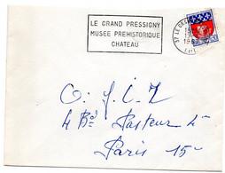 INDRE & LOIRE - Dépt N° 37 = LE GRAND PRESSIGNY 1967 =  FLAMME Codée =  SECAP ' MUSEE PREHISTORIQUE / CHATEAU ' - Marcophilie (Lettres)