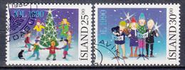 IJSLAND - Michel - 1990 - Nr 736/37 - Gest/Obl/Us - 1944-... República