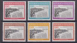 Venezuela Mi# 1336-41 ** MNH Gazeta Newspaper 1960 - Venezuela