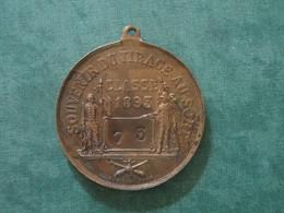 MEDAILLE SOUVENIR DU TIRAGE AU SORT - CLASSE 1893 - Conscrit 73 - France
