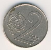 CZECHOSLOVAKIA 1989: 2 Koruny, KM 75 - Czechoslovakia