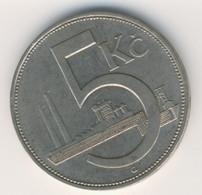 CZECHOSLOVAKIA 1938: 5 Korun,KM 11a - Czechoslovakia