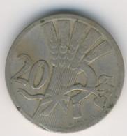 CZECHOSLOVAKIA 1926: 20 Haleru, KM 1 - Czechoslovakia