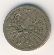 CZECHOSLOVAKIA 1922: 50 Haleru, KM 2 - Czechoslovakia