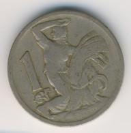 CZECHOSLOVAKIA 1922: 1 Koruna, KM 4 - Czechoslovakia