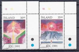 IJSLAND - Michel - 1991 - Nr 758/59 - Gest/Obl/Us - 1944-... República