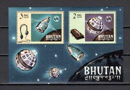 BHOUTAN BLOC N° 4  NEUF SANS  CHARNIERE COTE  9.00€ ESPACE  TELECOMMUNICATIONS - Bhutan