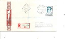 Hongrie ( FDC De 1961 Voyagé En Recommandé De Budapest Vers La Grande-Bretagne - Voir Timbre Non Dentelé ) - Hungary