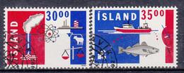 IJSLAND - Michel - 1992 - Nr 766/67 - Gest/Obl/Us - 1944-... República