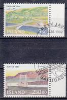 IJSLAND - Michel - 1992 - Nr 768/69 - Gest/Obl/Us - 1944-... República