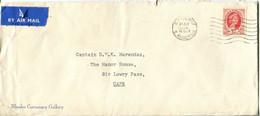 Rhodesia & Nyasaland Mi# 4 Used On Letter FDC- QEII - Rhodes Gallery - Rhodesia & Nyasaland (1954-1963)
