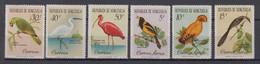 Venezuela Mi# 1416-21 ** MNH Birds 1961 - Venezuela