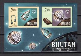 BHOUTAN BLOC N° 4  NON DENTELE NEUF SANS  CHARNIERE COTE  ? € ESPACE  TELECOMMUNICATIONS - Bhutan