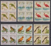Venezuela Mi# 1416-21 ** MNH Block Of 4 Birds 1961 - Venezuela