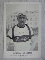 CPA - Cycliste - ALPHONSE DE VRESSE  Sélectionné Par O.C.B. Papier à Cigarettes - Cycling