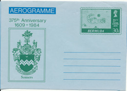 Bermuda Aerogramme In Mint Condition 375th Anniversary 1609 - 1984 30 C. - Bermudas