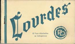 CARNET Complet De 12 Cartes Postales Anciennes De LOURDES. - Lourdes