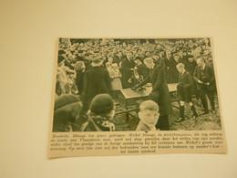 """Origineel Knipsel ( 7395 ) Uit Tijdschrift """"  De Stad """"  1937 : Honderdjarige Moederke Dhooge  - Zele - Sin Clasificación"""