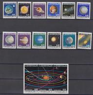 Venezuela Mi# 1917-31 ** MNH Humboldt Planetarium 1973 - Venezuela