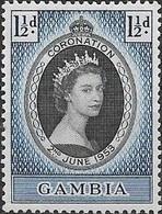 GAMBIA 1953 Coronation - 11/2d Queen Elizabeth II MNH - Gambia (...-1964)