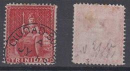 Venezuela Ca 1900 CUIDAD BOLIVAR Postmark On TRINIDAD Stamp - Venezuela
