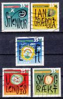 IJSLAND - Michel - 1999 - Nr 919/23 - Gest/Obl/Us - 1944-... República