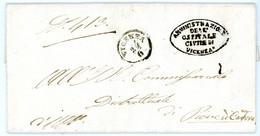 ITALIE LETTRE 1859 VICENZA L'AMMINISTRAZIONE DELLE SPEDALE CIVILE E PIA OPERA UNITA VERSO CADORE / 26 GUI - Lombardo-Veneto