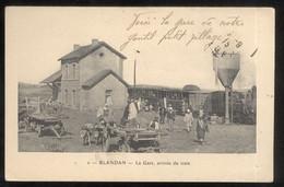 CPA Coloniale Algérie Française - Blandan - La Gare , Arrivée Du Train - Circulée 1915 - Altre Città