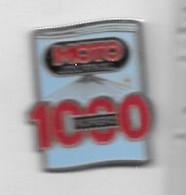 Pin's  Moto, Média, Journal  MOTO  JOURNAL  NUMERO  1000 - Motorfietsen