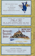 Ancienne Etiquette Fromage Feuille Papier Emballage Beurre Norman Abbey Mont St Mic Elle & Vire 250g Usine N°2514 Export - Formaggio