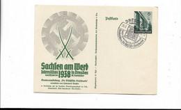 Ganzsache Aus Dresden 1938 - Cartas