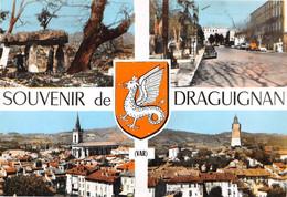 Souvenir De DRAGUIGNAN - Vues Multiples - Dolmen - Blason Dragon, Chimère - Philatélie Flamme Donneurs De Sang - Draguignan