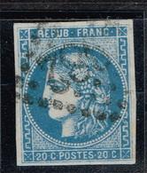 A6b- N°46 Type III Report1 Retouché Rare. Signé. Variété Signalée Sur Le Maury. - 1870 Bordeaux Printing