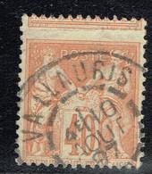 A6b- Piquage à Cheval Pas Courant Sur Type Sage - 1876-1878 Sage (Type I)
