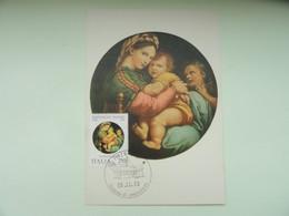 CARTE MAXIMUM CARD LA MADONE A LA CHAISE BY RAFFAELLO SANZIO ITALIE - Religious