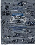 Etiquette Feuille Papier Emballage Beurre Pasteurisé De Normandie  Le Bayeux  250g Chien Oiseau Bateaux Cheval Superbe - Formaggio