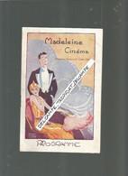 BB  / Programme CINEMA  Ancien MADELEINE Cinema Ben HUR General LEW WALLACE - Programme