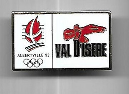 @+ Pin's J.O. D'Albertville 92 - Val D'Isere - Aigle (verso COJO 91) - Olympic Games