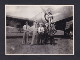 Photo Originale Aviateurs Escadrille F25 Du GB I /21 Groupe Bombardement Avion Bloch MB 210 - Aviazione