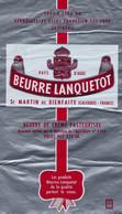 Etiquette Feuille Papier Emballage Beurre Normandie Beurre Lanquetot 250g Pays D'auge St Martin De Bienfaite Calvados - Formaggio