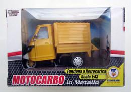 MOTOCARRO FRUTTA  RETROCARICA TEOREMA METAL 1:43 CON BOX NEW - Motorräder