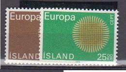 ISLANDE    1970    EUROPA     N °   395 / 396  ( Neufs Sans Charniere )   COTE   8 € 00        ( E 276 ) - 1944-... República