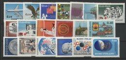 1970 FINLANDE ANNEE COMPLETE ** (MNH) N° 632 à 650. Cote (value) 36 €. FINLAND FULL YEAR. VG/TB - Ganze Jahrgänge