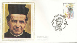 "[66151]TB//-N° 2129 - FDC - (Jean) Don Bosco - ""HUY"", école, Religion, Soie, SNC - 1981-90"